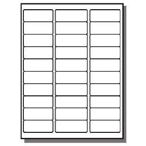 Address Labels 1 X 200 Sheets 30 UP Fit Sizes 5260 5520 5810 Compatible Sticker Labels (6000 LABELS)