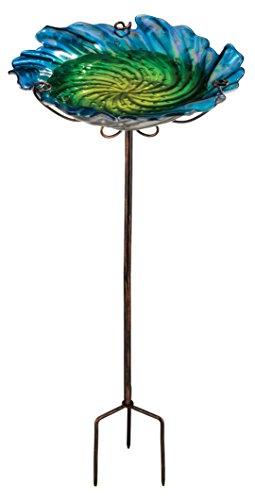 Regal Art & Gift Birdbath/Feeder with Stake, (Bee Bath)