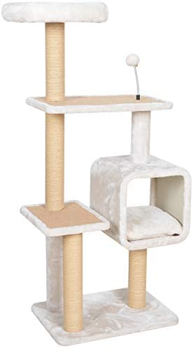 Catry Dynasty, 5 Level Cat Tree with Paper Rope Scratch Post, Condo, and Spring Toy Multiple Sizes