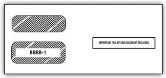 EGP IRS Approved 1099 Double Window Envelope by EGPChecks