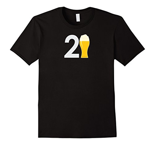 Mens 21st Birthday T Shirt For Him 21 Years Old Birthday Gift Tee Large Black (Birthday Gifts For A 21 Year Old)