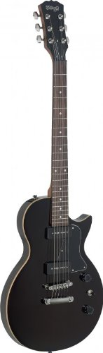 Stagg SEL-P90BK P90 Rock L Series Electric Guitar with Solid Alder Body - Black