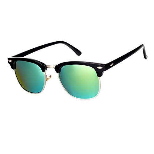 GUVIVI Neutral Retro Border Polarized Sunglasses (black/C6)