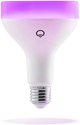 LIFX 1100-Lumen, BR30 Wi-Fi Smart LED Light Bulb LHB30E26UC10 Multi Colored - 11W - New