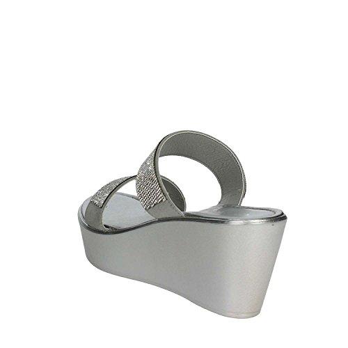 Argent 002 Cinzia Femme Soft Mules IAD18064 fFwFqzPT