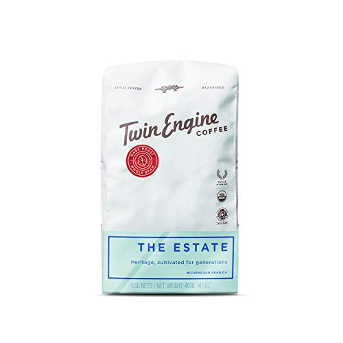 Twin Engine Coffee ESTATE BLEND - Dark Roast, Whole Bean, Nicaraguan Coffee, 400g 14.1oz | Rich Specialty Grade Coffee packaged at the source | Nicaragua's Coffee (4 pack)