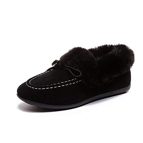 HOESCZS Damenschuhe Damenschuhe Schneestiefel Peas Schuhe Damen Winter Warm Wild Cotton Schuhe Studenten