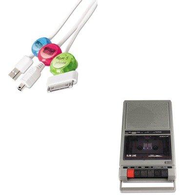 KITAPLSL1039PRBDCI101COCB - Value Kit - Amplivox Portable Four-Station Listening Center Audio Cassette Recorder (APLSL1039) and Paris Business Products Dotz Cord Identifier (PRBDCI101COCB) by Amplivox