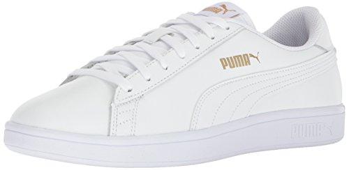 Puma Mænds Smash V2 Læder Plus Sneaker Puma Hvid-puma Hvid HUvei