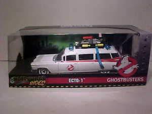 BHCAT Ghostbusters 1959 Cadillac Ambulance Ecto-1 Diecast Car 1:24 Toys 8 inch ()