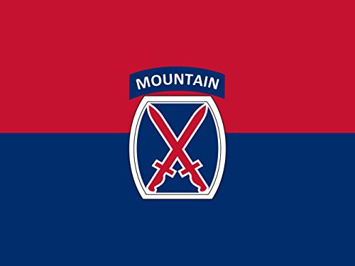 Cheap magFlags Large Flag United States Army 10th Mountain Division | landscape flag | 1.35m² | 14.5sqft | 100x130cm | 40x50inch – 100% Made in Germany – long lasting outdoor flag