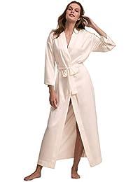 b511ff5619 Robe Womens Satin Robes Bridal Wedding Party Loungewear Bride Nightgown Long  Bathrobe Pajamas Sleepwear