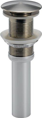 Delta Faucet 72172-SS Push Pop Up Less Overflow Bath Faucet Accessory, Brilliance Stainless