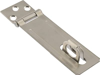 """The Hillman Group The Hillman Group 853363 4-1/2"""" - Fixed Staple Safety Hasps - Stainless Steel 1-Pack"""