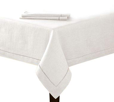 Cover Linen Communion Table - New 60x84 White Hemstitch Single Border Tablecloth