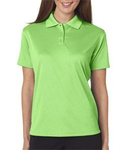 UltraClub Cool & Dry Elite Jacquard Polo Golf Shirt Women's 8305L L Light Green