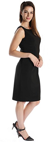 Joseph Ribkoff Black Open Back with Jewel Chain Accent Dress Style 171009 - Size 6 by Joseph Ribkoff (Image #5)
