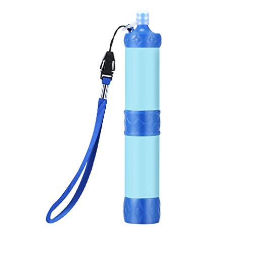Winner666 2019 Portable Soldier Water Filter Purifier Hiking Camping Survival Emergency (Blue)
