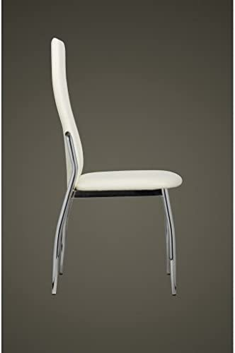 Xingshuoonline Lot de 4 chaises de Salle à Manger en Cuir synthétique Blanc