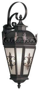 Livex Lighting 2196-07 Berkshire - Three Light Outdoor Wall Lantern, Bronze Finish with Antique Honey Linen Glass