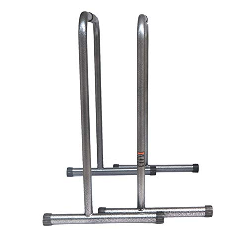 Durable Functional Heavy Duty Fitness Workout Dip Bar Station Stabilizer Push Up Stand Relife Rebuild Your Life Non-Slip (Color : Black, Size : 806346cm)