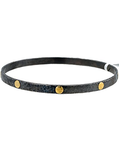 Loved Luxuries BRAND NEW Gurhan Midnight Bangle Bracelet in 24K Yellow Gold & Sterling Silver (Gurhan Yellow Necklace)