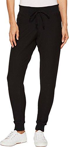 (Plush Women's Super Soft Fleece Skinny Sweatpants, Black, Small)