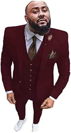 P/&G Mens Stripe Two Pieces Peak Lapel Suit Double/ Breasted Classic-Fit Suit