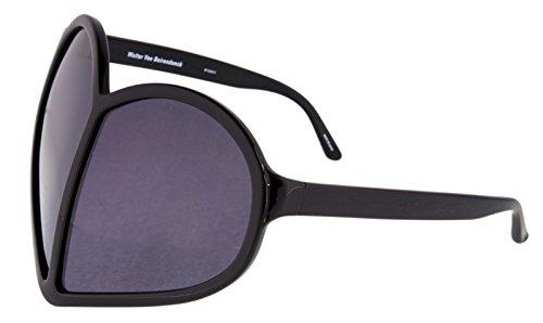 LINDA FARROW Walter Van Beirendonck Black Heart Oversized WVB/5/1 - Oversized Sunglasses Farrow Linda