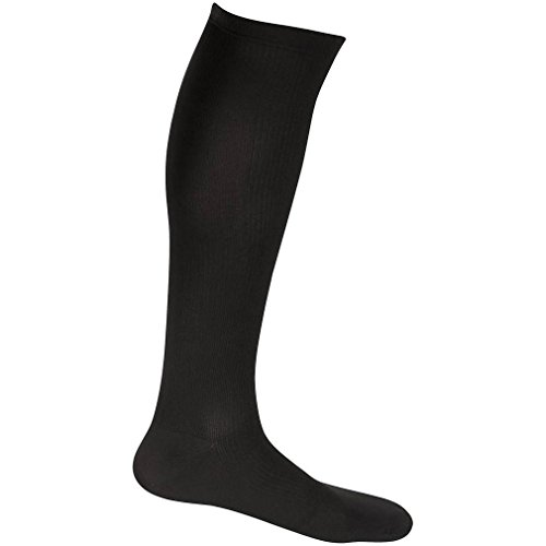 EvoNation Men's USA Made Graduated Compression Socks 30-40 mmHg Extra Firm Pressure Medical Quality Knee High Orthopedic Support Stockings Hose - Best Comfort Fit, Circulation, Travel (XL, Black) by EvoNation (Image #2)