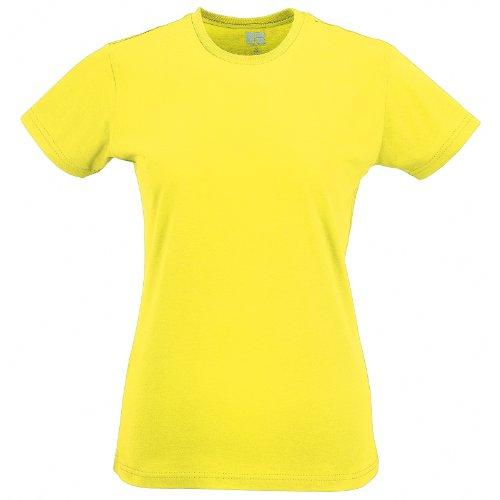 Femme Jaune Russel shirt T courtes manches RWIIHpr