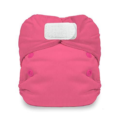 - Thirsties Newborn All in One Cloth Diaper, Hook & Loop Closure, Bubble Gum (5-14 lbs)