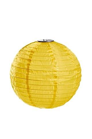"Allsop Home and GardenSoji Illume 14"" LED Outdoor Solar Lantern, Handmade with Weather-Resistant UV Nylon, Marigold - Allsop Led Solar Lantern"