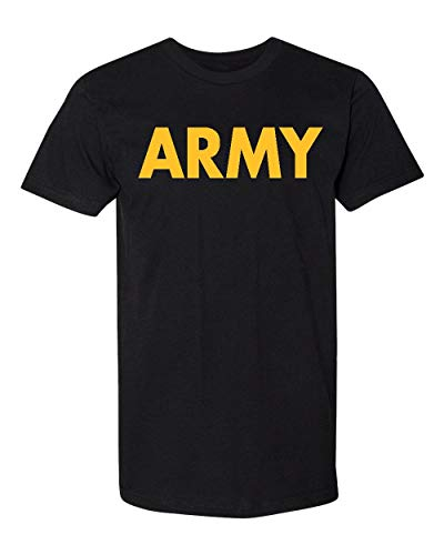 Promotion & Beyond US Military Gear Army Training PT Men's T-Shirt, M, Black