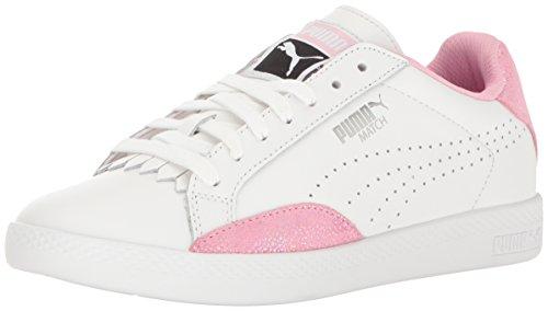 PUMA Women's Match LO Reset WN'S Fashion Sneaker, Puma White-Prism Pink, 6 M US