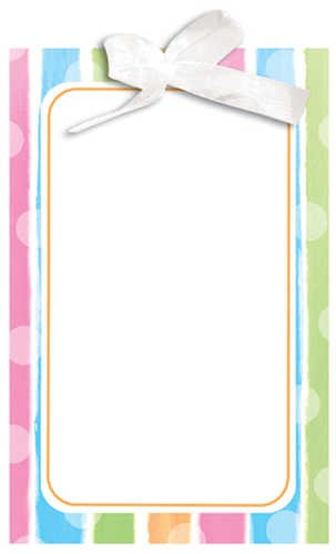 - Baby Shower Clothes - Invitation - 10/pkg. Postcard Imprintable w/ribbon
