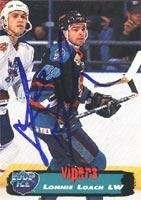 Autographed Edge Collectors Card (Lonnie Loach Detroit Vipers 1995 Collectors Edge Ice Autographed Card. This item comes with a certificate of authenticity from Autograph-Sports. Autographed)
