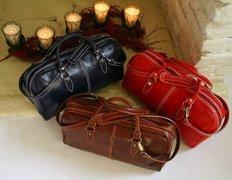 Venezia Handmade Leather Mini Duffle-Vecchio Brown, Bags Central