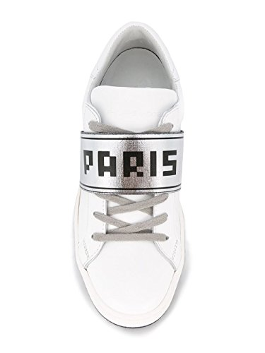 Philippe Model Sneakers Donna PMAI16SILDVU19 Pelle Argento/Bianco