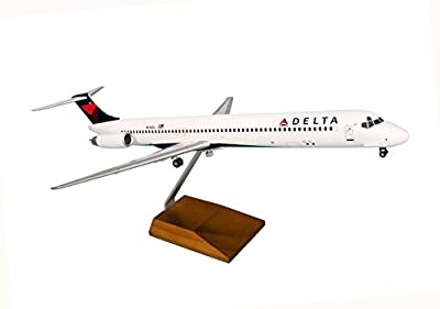 Daron Worldwide Trading SKR8607 Skymarks Delta MD-80 1/100 2007 Livery W/Wood Stand and Gear Model Kit