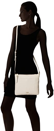 Large N Zip Top White Crossbody s Klein Calvin Pebble H1OqwxYOg