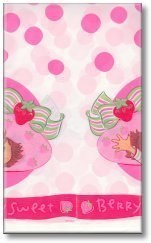 Strawberry Shortcake Plastic Table Cover (1ct) (Shortcake Shorts Satin Strawberry)