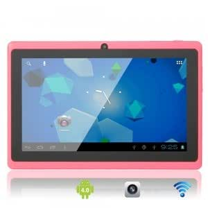 """7"""" Capacitive Touch Screen A13 Android 4.0 8GB Tablet PC with Front Camera Pink"""