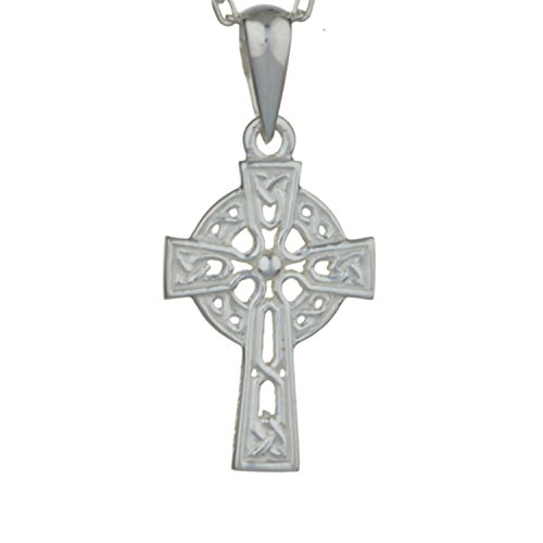 Celtic Cross Sterling Silver Pendant with 18