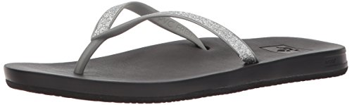 (Reef Women's Cushion Bounce Stargazer Sandal, Silver, 8 M)