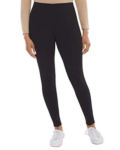 Pant Career Linen (Chico's Women's Knit Pull-On Leggings Size 4 S (0 REG) Black)