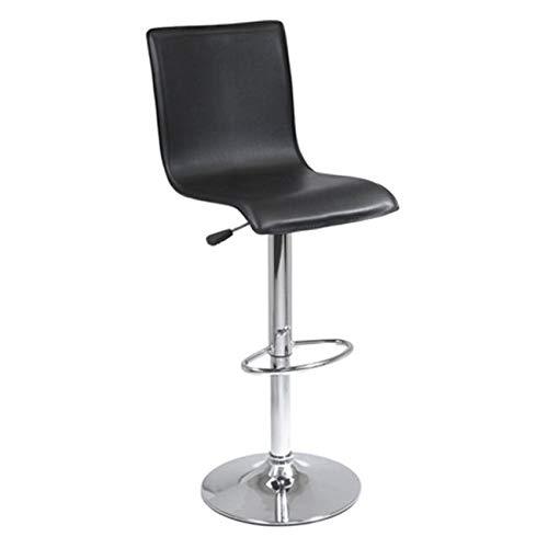 - OKSLO High back l shape air lift stool - black and metal