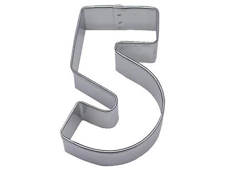 Amazon.com: R & M Número 5 cortador de galletas en acero ...