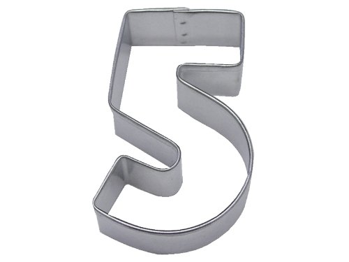 R&M Number 5 Cookie Cutter in Durable, Economical, Tinplated Steel (Number Large Cutter Cookie 5)
