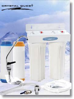 CRYSTAL QUEST Mega Undersink Replaceable Double Fluoride Water Filter System